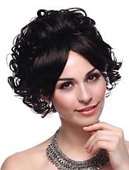 capless kvalitní syntetický krátké kudrnaté vlasy paruka