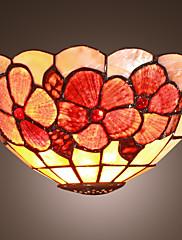 Tiffany stilu zid svjetlosti s cvjetnim uzorkom - toplo svjetlo