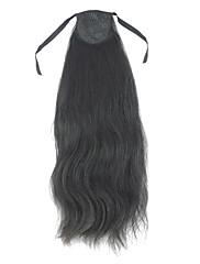100% lidské vlasy rovné culíku s 2 barev na výběr