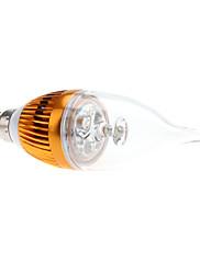 E14 3W 270-290LM 6000-6500Kナチュラルホワイトライトゴールデンシェル、LEDキャンドル電球(85-265V)