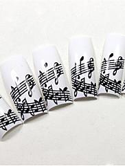 70ks bílé francouzsky plastové hroty Nail art s notami