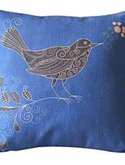 国の鳥のコットン/リネン装飾的な枕カバー
