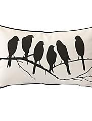 """šepot ptáků """"print dekorativní polštář"""