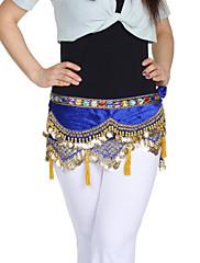 dancewear samet s mincemi / korálkování výkon břišní tanec pás pro dámy více barev