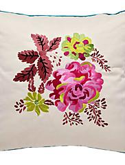 牧歌的な花の刺繍装飾的な枕カバー