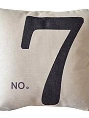番号7コットン/リネン装飾枕カバー