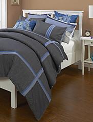jednostavan&opulence® 3-komad sive cvjetni pamuk poplun cover set
