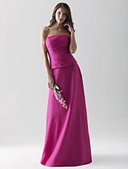ランタンブライダルフロアレングスシフォンウエディングドレス - シース/コットンストラップレスプラスサイズ/小柄