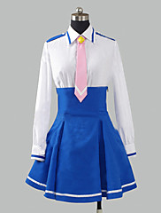 Inspirovaný PrettyCure Cure Happy Anime Cosplay kostýmy Cosplay šaty / Školní uniformy Patchwork Niebieski Dlouhé rukávyTričko / Sukně /