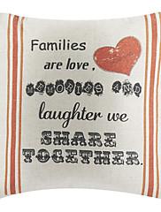 Obiteljska ljubav pamuka / lana dekorativne jastuk naslovnicu