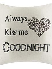 Laku noć pamuk / lan dekorativne jastuk poklopac