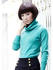 naiye multi-color visokim vratom jednobojnu pleteni džemper