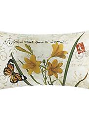 Zemlja cvjetni pamuk / lan dekorativne jastuk poklopac