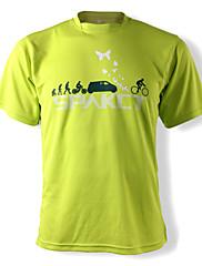 SPAKCTポリエステル100%通気性の乗馬文化Tシャツ(グリーン)