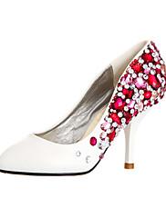 ultra luxusní koženka horní stiletto heelclosed špička s barevnými boty drahokamu svatební