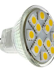 1.5W GU4(MR11) LED bodovky MR11 12 SMD 5050 160 lm Teplá bílá DC 12 V