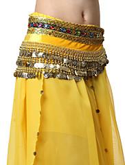 výkon dancewear samet s mincemi břišní tanec pásy pro dámy více barev
