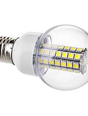 E26/E27 LEDボール型電球 G60 63 SMD 5050 650 lm ナチュラルホワイト 交流220から240 V