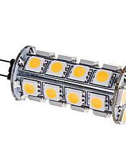 G4 3.5W 30x5050SMD 280-310LM 3000-3500KウォームホワイトライトLEDコーン電球(12V)
