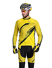 MYSENLAN新しいCOOLDRYを設計+フレックス素材ロングスリーブ速乾性の男性サイクリングスーツ