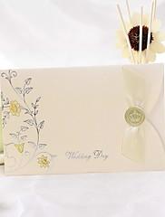 春の花折られた結婚式の招待状(50セット)
