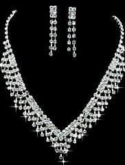 ラインストーンクラシックデザインレディースジュエリーと豪華な合金は、ネックレス、イヤリングを含むセット