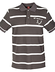 TOREADメンズ青と白のストライプ半袖Tシャツ