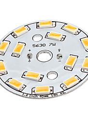 7Wは、ウォームホワイトライトアルミニウムベースLEDエミッタ(22-24V)を14x5630SMD