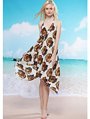Tiger Print Beach Cover-up