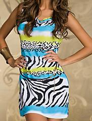 Novinkou zebra kámen ležérní mini šaty s pásem