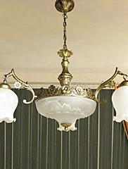 americký styl venkovský 6 se světlo lustr v floriform stínu