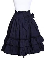 Sukně Klasická a tradiční lolita Lolita Cosplay Lolita šaty Jednobarevné Lolita Medium Length Sukně Pro Bavlna