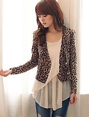 Dámské Leopard Double Prsa Blazer