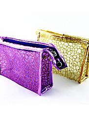 ブリーフケースパターンはメイクアップ/化粧品バッグ透明格子(アソートカラー)