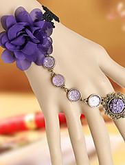 Ruční Violet Chiffon květ Classic Lolita Ring náramek