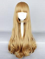 Lolita Wigs Klasická a tradiční lolita Lolita Dlouhé / Kudrny Zlatá Lolita Paruky 80 CM Cosplay Paruky Jednobarevné Paruka Pro Dámské