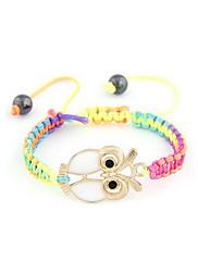 Módní Alloy / lana se sovou Pletená dámská náramek (více barev)