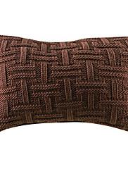 """20 """"長方形のブラウンクロッシングパターンアクリル装飾的な枕カバー"""