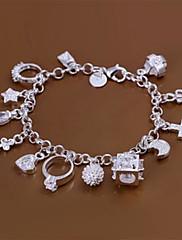 ファッションブラス銀メッキ13ペンダントチャームブレスレット