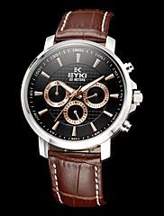 Pánské Kalendář kulatý ciferník Pu kapela Quartz analogové náramkové hodinky