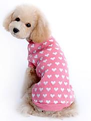Gatos / Perros Suéteres Rosado Ropa para Perro Invierno Corazones Mantiene abrigado