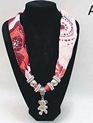 女性の金属のペンダントシフォンスカーフ(12個入、販売のために混合した異なる色)