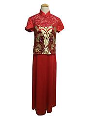 Lady Antebellum Klasické čínské styl ruční límec Cheongsam