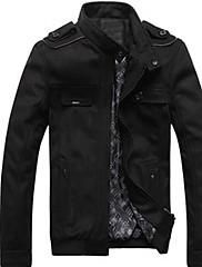 Xingke Pánské Warm Casual Tweed Jacket (Gray)
