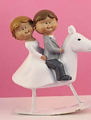 primeros de la torta 'pareja en merry-go-round' topper de la torta