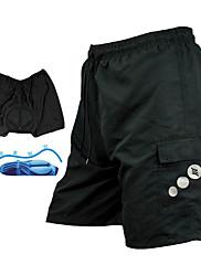 Santic - mens cyklistika MTB elite shortsandbibs šortky s polštářem a silikagelem polštář s undetachable pad