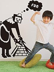 spremačica robot zidne naljepnice (1985-D25)