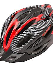 満月サイクリングPVC + EPS 22ベントスーパーライトレッド+黒自転車/バイクヘルメット