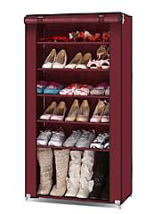 ファッション6層木靴棚 - 4色利用可能な