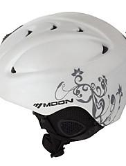 MOON ヘルメット 女性用 男性用 マウンテン ハーフシェル スポーツヘルメット スノーヘルメット CE ABS樹脂 サイクリング ロードバイク スノースポーツ スキー スノーボード